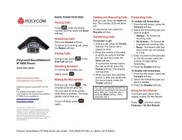polycom vvx 410 quick user guide