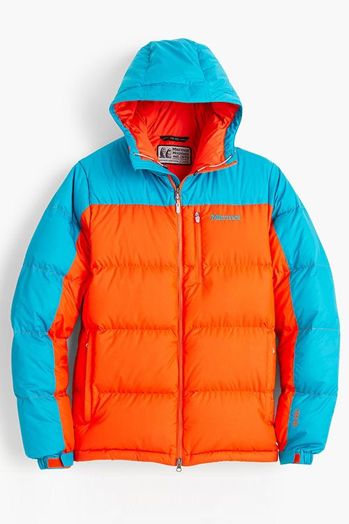 marmot for j crew guides down hoodie