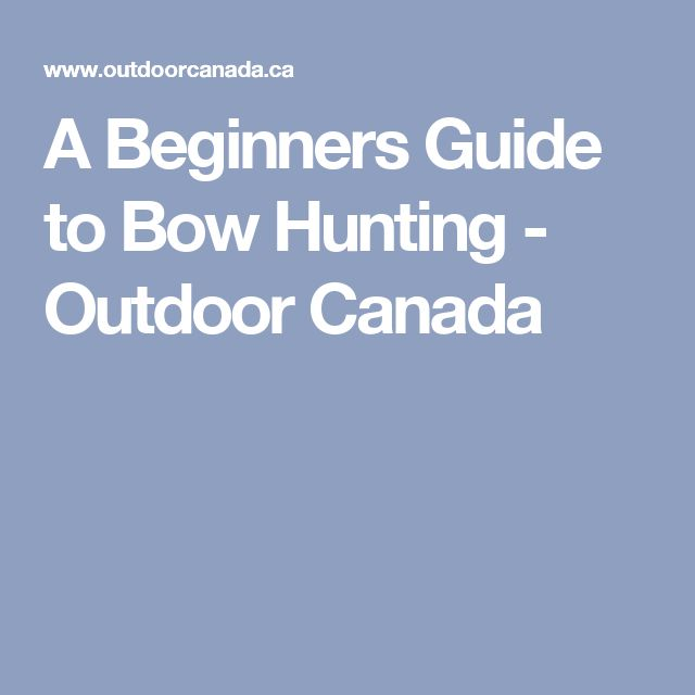 hunting in canada without a guide