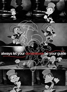 jiminy cricket quotes let your conscience be your guide