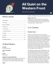 all quiet on the western front study guide quizlet