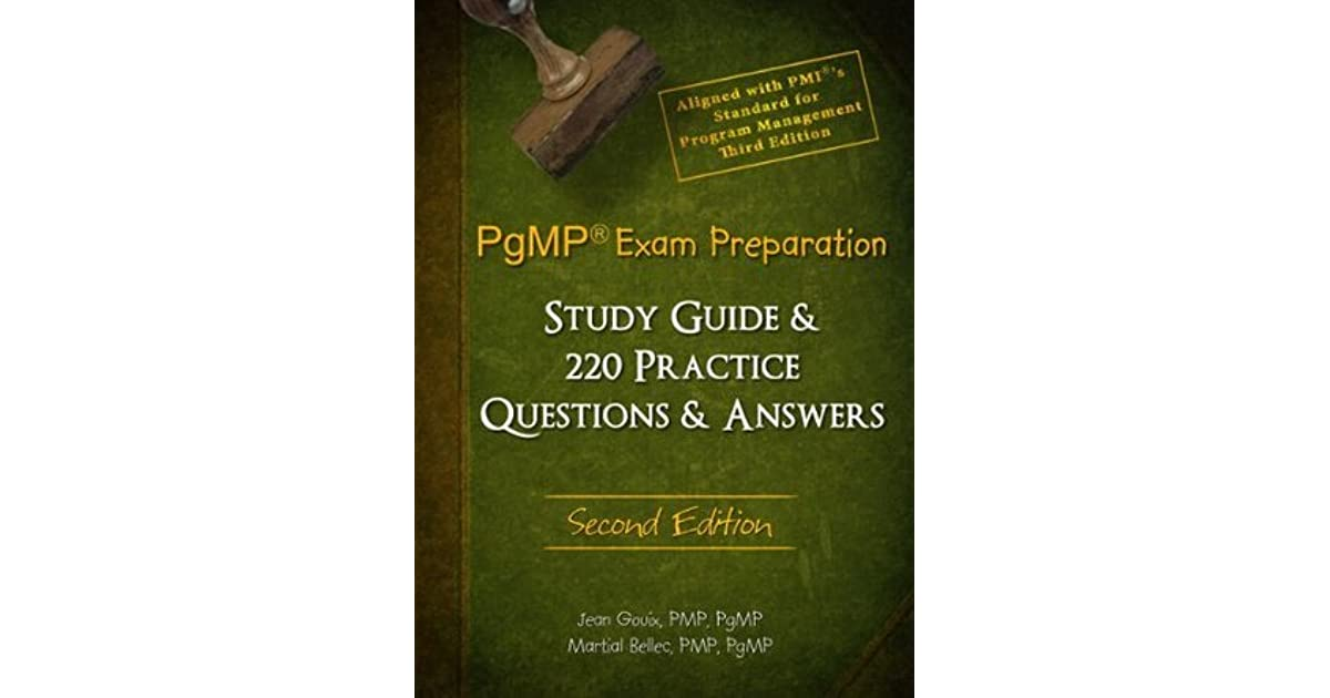 pgmp exam preparation and study guide second edition pdf