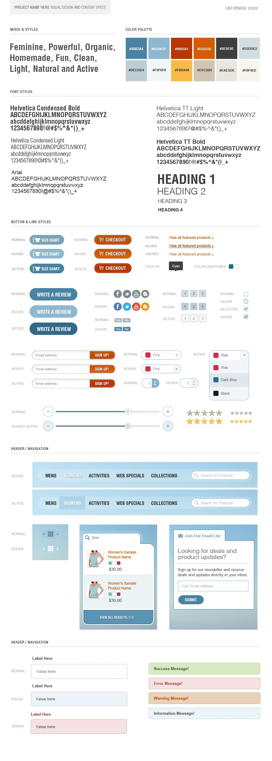 web design style guide examples