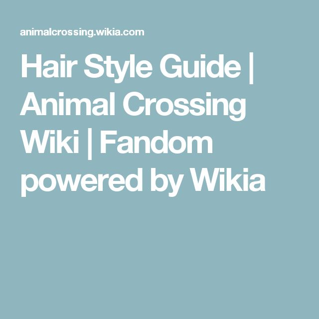 animal crossing new leaf wiki hair guide