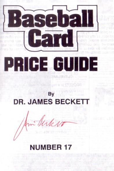 beckett sports cards value price guide