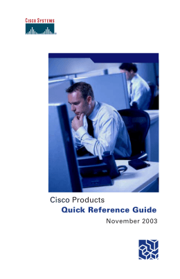 cisco product quick reference guide 2016