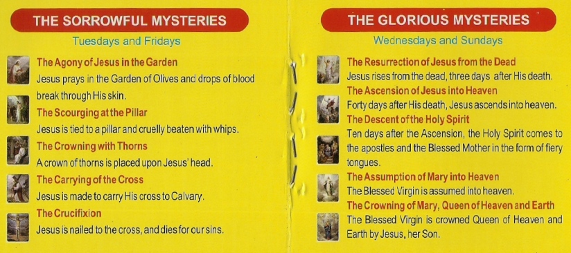 holy rosary prayer guide mysteries