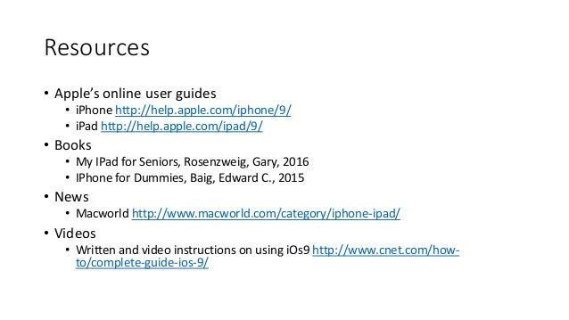 iphone user guide for seniors