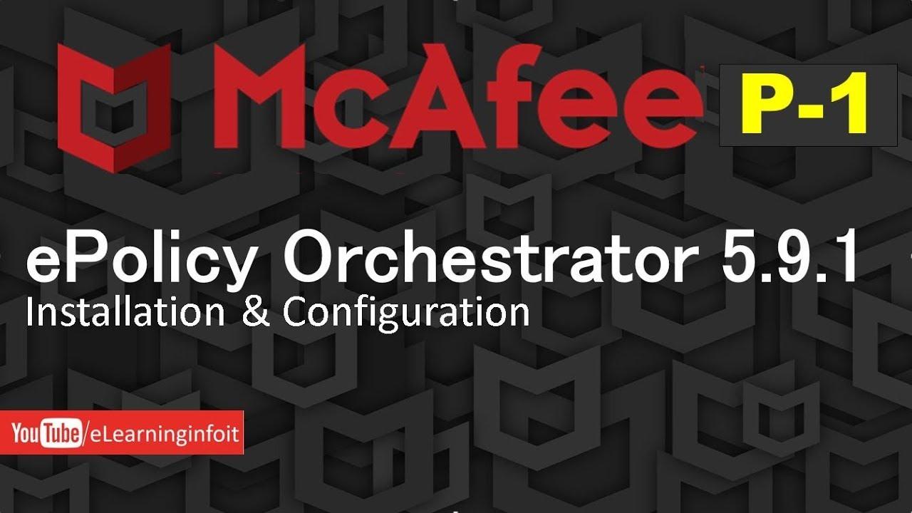 mcafee epo 5.9 installation guide