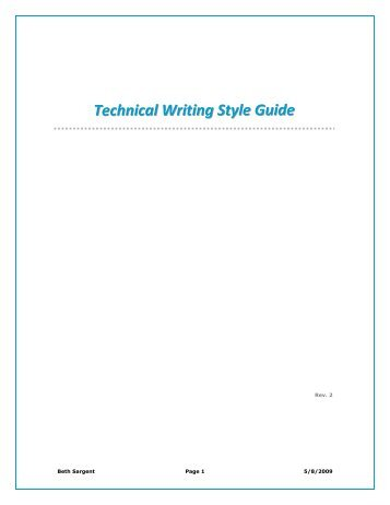 technical writing style guide online