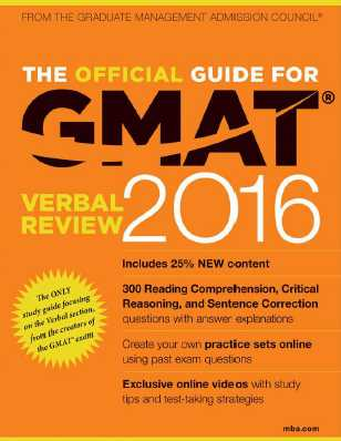 the official guide for gmat review 2018