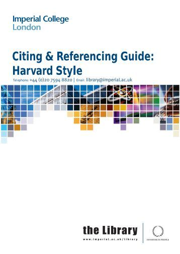 university of manchester harvard referencing guide
